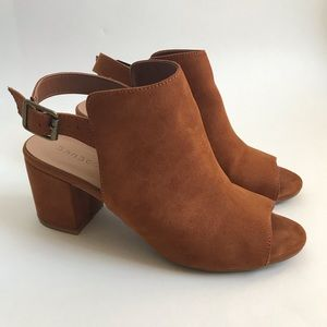 Bamboo Suede Block Heel Shoes